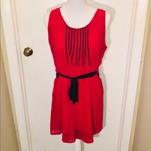 Ya Los Angelos Red Cocktail Dress Size L